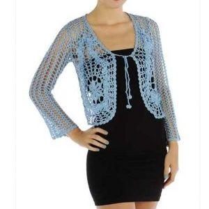 Sweaters - Crochet Big Flower Cardigan summer